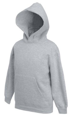 Kinder Kapuzen Sweatshirt Kids Pullover Hoodie Shirt verschiedene Farben und Größen - Shirtarena Bündel 140,Graumeliert