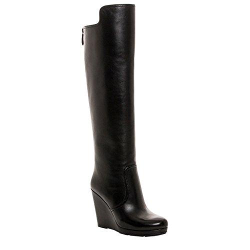 Prada Black Leather Wedges - 4