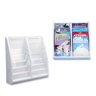 deflect-oamp;reg; Eight-Pocket Plastic Desktop or Wall-Mount Literature Display Rack, (Eight Pocket Plastic Desktop)