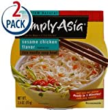 Simply Asia Rice Noodle Soup Bowl Sesame Chicken -- 2.5 oz Each / Pack of 2