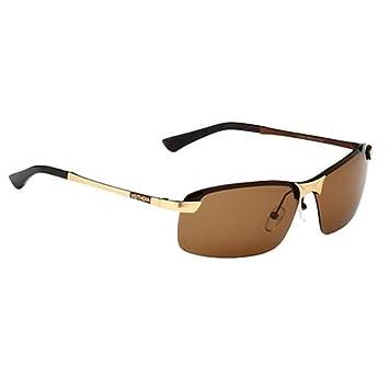 Man9Han1Qxi Occhiali da Sole polarizzati degli Uomini di Modo all'aperto Che guidano Gli Occhiali da Pesca Eyewear Anti Occhiali da Sole di UV Golden