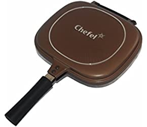 11.5`` Chefel Flip N Cook Double Sided Non-Stick Brown Frying Pan /&supplier-theeazystore