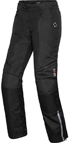 DXR Motorradhose Tour Textilhose 5.0, Motorradhose Herren, wasserdicht, Winddicht, atmungsaktiv, Thermofutter, weitenverstellbarer Bund, Schwarz, M - XXXL / 3XL