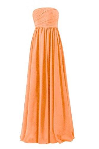 Daisyformals Empire Robe Bustier Formelle Robe De Demoiselle D'honneur En Mousseline De Soie Longue (fb138) N ° 22 Orange