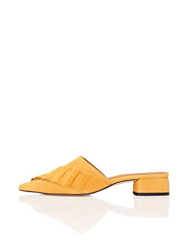 yellow Pointu Jaune Front À Find Mules Femme qUY6U4x