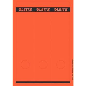 Leitz 16870025 Rectángulo Rojo 75pieza(s) - Etiqueta autoadhesiva (Rojo, Rectángulo, Archivador de anillas, Papel, 80 g/m², 61 mm): Amazon.es: Oficina y ...