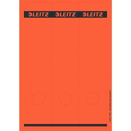 Leitz 16870015 R/ückenschild selbstklebend PC breit lang Papier gelb 75 St/ück