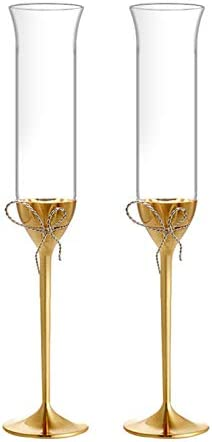 Yuansr Cubileta de Vino Transparente Transparente Plomo, envases de Regalo, Cristal sin Plomo Hecho en Europa, Transparente