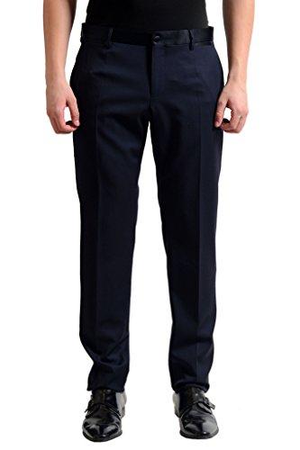 Dolce & Gabbana Wool Silk Navy Tuxedo Style Men's Dress Pants US 38 IT 54; (Tuxedo Dolce Gabbana &)