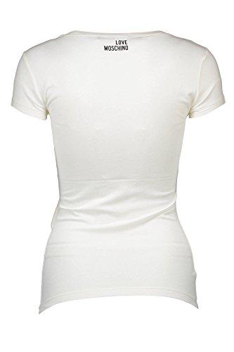 Moschino A00 Blanco Camiseta Frutti Love UnZPP