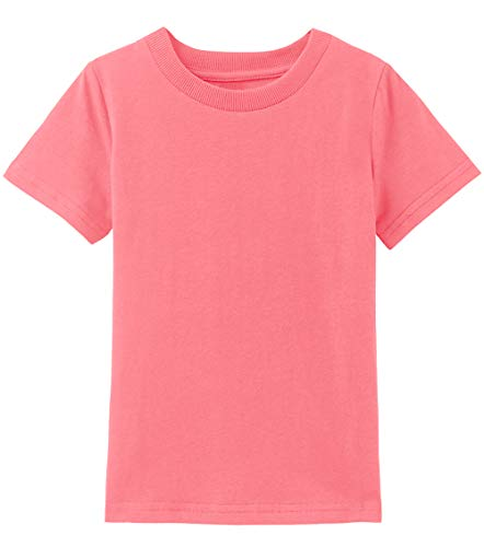 COSLAND Toddler Basic T Shirt Short Sleeve Tee (Living Coral, 2T) ()