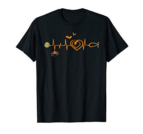 Halloween Nurse Heartbeat T-shirt -