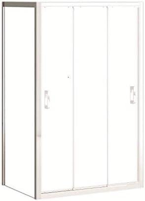 Mampara de ducha lateral fijo con cristal transparente templado de seguridad de 6mm modelo Bricodomo Madrid ANCHO 70CM (medida adaptable 68 a 70cm): Amazon.es: Bricolaje y herramientas