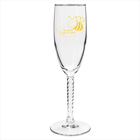 Sweet Bee Champagne Flute with Twisted Stem (set of 72) (Flute Twisted Stem)