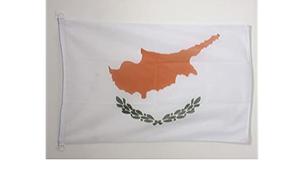 AZ FLAG Bandera de Chipre 90x60cm Uso Exterior - Bandera CHIPRIOTA 60 x 90 cm Anillos: Amazon.es: Hogar