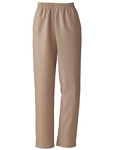 Donnkenny Elastic-Waist Gabardine Pull-On Pants, Khaki, 18P