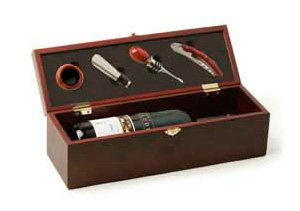 Cherry 4 Piece Wine Accessory Gift Box by True