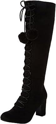 Joe BrownsForever Individual Pom Pom Boots - Riding Boots donna , nero (Black (Black)), 36.5