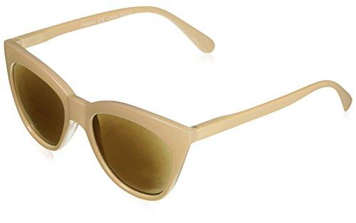(Peepers Women's Mimosa Sun-Tan Cateye Sunglasses, 3 3)