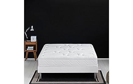 Literie iristas Dunlopillo (colchón + somier + patas), 2 x 90 x 200