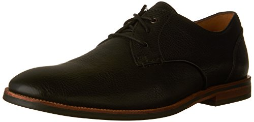 CLARKS Men's Broyd Walk Oxford, Black Leather, 10 D-Medium