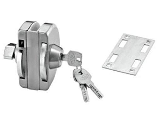 MAX DEALS Wall to Glass Door Lock D Type SS 304 Grade Pack of 1 Pcs