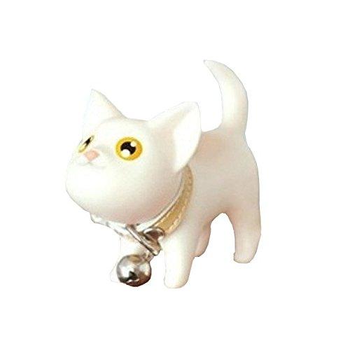 westeng 1Pcs Porte-clés en forme du chat en plastique Keychain Bijoux et Accessoires A blanc