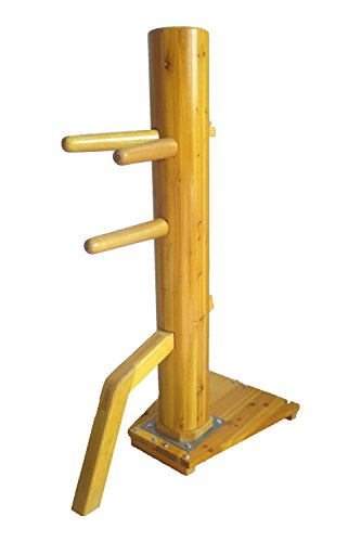 Wing Chun Wooden Dummy Mook Yan Jong - Traditional Ip Man Wooden Dummy with Complimentary Striking Protective Pads