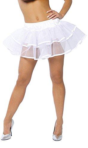 Roma Costume Double Layer Petticoat, White, One ()