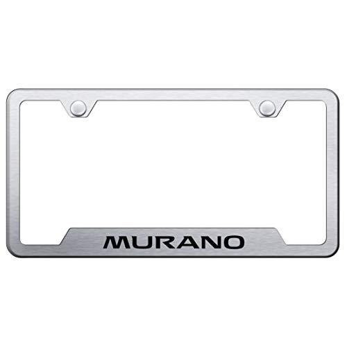 Au-Tomotive Gold, INC. DanteGTS Nissan Murano Stainless Steel License Plate Frame Logo Tag Satin Flat Matte