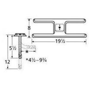 Music City Metals 10201-72401 Stainless Steel Burner Repl...