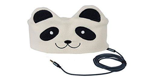 CozyPhones Headband Headphones - Super Comfortable and Soft Fleece Headbands. Perfect for Travel and Home - PANDA