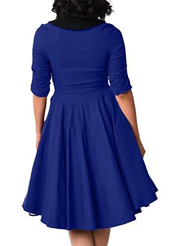 Les Robes De Soirée Des Femmes Ccbubble 2018 Demi Manches Femmes Occasionnels V Cou Robes Cxy770 Bleu Royal