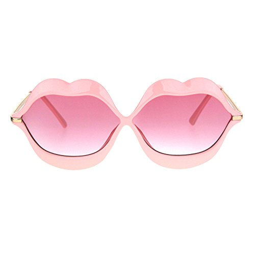 Party Shades Sunglasses - Womens Funky Retro Kissing Lip Frame