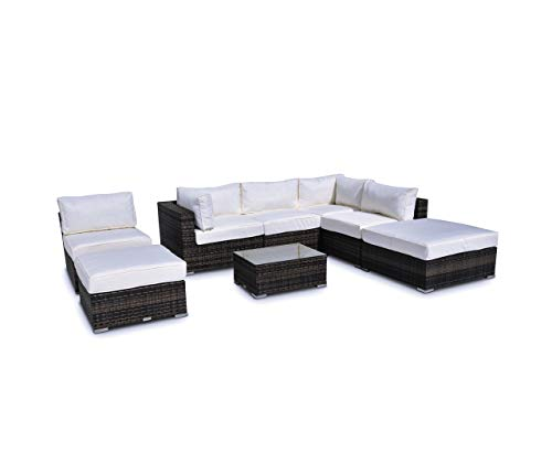- Vilano 8-Piece Sectional - Gold. Outdoor Powder Coated Aluminum Patio Furniture