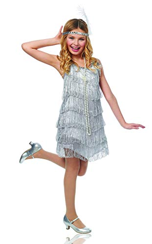 Great Costume Ideas For Kids (Silver Flapper Kids Costume)