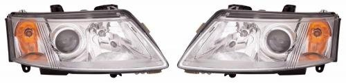 - Go-Parts PAIR/SET OE Replacement for 2003-2007 Saab 9-3 Front Headlights Headlamps Assemblies Front Housing/Lens / Cover - Left & Right (Driver & Passenger) Side - (4 Door; Sedan) for Sa