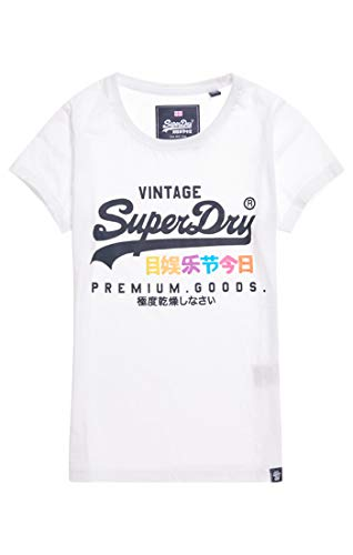 Entry Blanc Premium optic Tee Goods T Puff 01c Femme Superdry shirt tFqwp8w