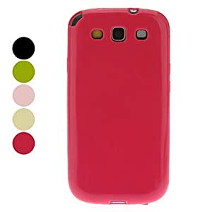 TPU Soft Case and Screen Protector for Samsung Galaxy S3 I9300 (Assorted Colors) --- COLOR:Black
