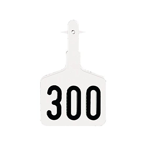 Ytex Lonestar EZ 1 Piece Large Numbered Cattle Ear Tags White 101-125