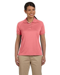Colorblock Mesh Polo - Devon & Jones Women's Short Sleeve Dri-Fast Advantage Colorblock Mesh Polo Golf Shirt DG375W pink Medium