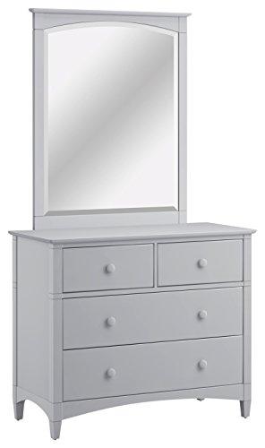 Bolton Furniture 661470800 Essex 4-Drawer Dresser and Mirror Set, Dove (Essex Mirror)