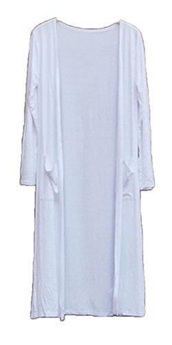 腐ったトラフ伝染性[エンジェルムーン] ロングカーディガン レディース 薄手 マキシ きれいめ ポケット 付き ロングカーデ 羽織り