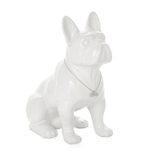 Torre & Tagus 900857 Sitting French Bulldog Sculpture, (Bulldogs White Ceramic)
