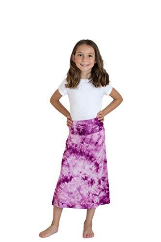 (KIDPIK Skirts for Girls - Tie Dye Dewberry - S)