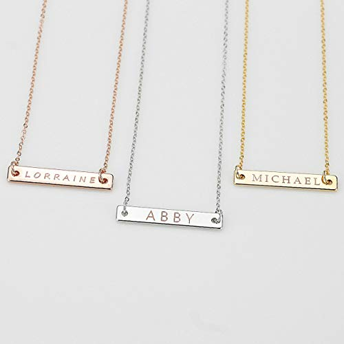 Rhodium Boy Charm - Personalized Name Necklace for Boys & Girls for Birthdays, Christmas, or Christening