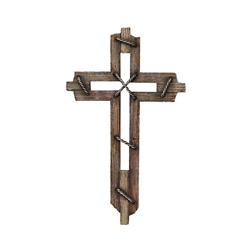 Family Cross - Pine Ridge Wood Decorative Wall Crosses Hanging - Religious Wall Art Cross Made from Polyresin - Wedding Crosses to Hang on Wall - Decorative Family Crosses Wall Decor