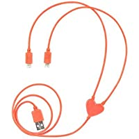 Kikkerland Dual Heart iPhone Charging Cable