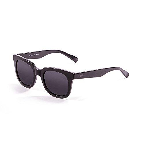 Ocean Sunglasses San Clemente Lunettes de Soleil Mixte Adulte, Matte Black/Shiny Black Down/Smoke Lens