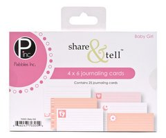 Share Tell Journaling Cards (Pebbles Inc. Share & Tell Journaling Cards 25/Package, Baby Girl)